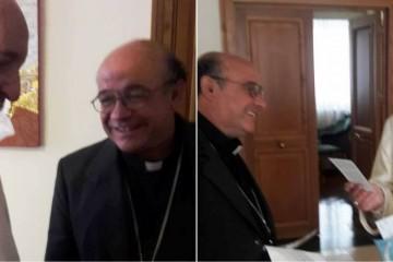 Mons. Arturo junto al Papa Francisco (Agosto de 2016)