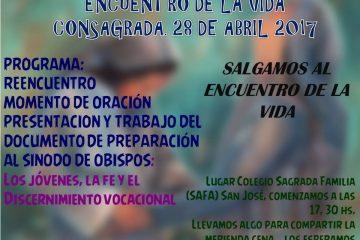 Encuentro vida Consagrada diocesis San Jose abril 2017
